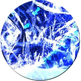 Glass Wall Art White and blue, Glowing in the dark, 60 x 60 cm