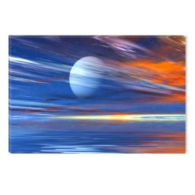 Canvas Wall Art Orange landscape, Glowing in the dark, 80 x 120 cm