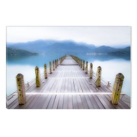 Canvas Wall Art Pontoon to the lake, Glowing in the dark, 80 x 120 cm