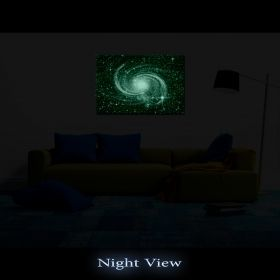 Canvas Wall Art The blue galaxy, Glowing in the dark, 80 x 120 cm