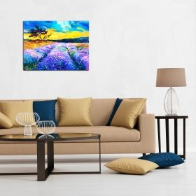 Tablou Camp de lavanda, luminos in intuneric, 80 x 120 cm