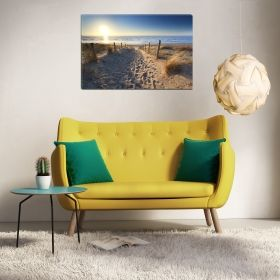 Canvas Wall Art Go to the beach, Glowing in the dark, 80 x 120 cm
