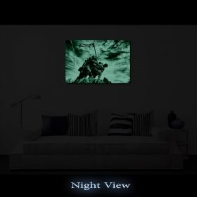 Canvas Wall Art Iwo Jima Monument, Glowing in the dark, 80 x 120 cm