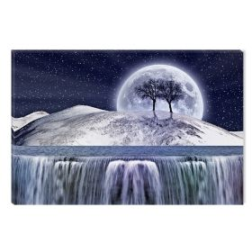 Canvas Wall Art Dream World, Glowing in the dark, 80 x 120 cm