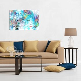 Canvas Wall Art Duplicity, Glowing in the dark, 80 x 120 cm