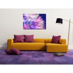 Canvas Wall Art Part of dandelion, Glowing in the dark, 80 x 120 cm
