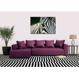 Canvas Wall Art Zebra, Glowing in the dark, 60 x 90 cm