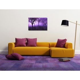 Canvas Wall Art Purple forest, Glowing in the dark, 60 x 90 cm