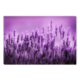 Canvas Wall Art Lavender, Glowing in the dark, 60 x 90 cm