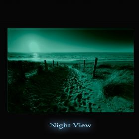 Canvas Wall Art Go to the beach, Glowing in the dark, 60 x 90 cm