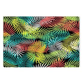 Canvas Wall Art Colored leaves, Glowing in the dark, 60 x 90 cm