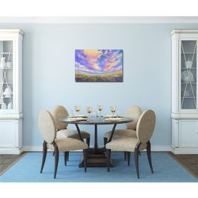 Canvas Wall Art Colorful sky, Glowing in the dark, 60 x 90 cm