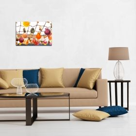Canvas Wall Art Colorful shells, Glowing in the dark, 60 x 90 cm