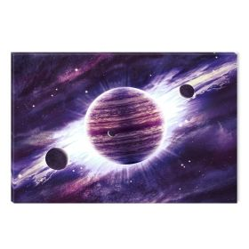 Canvas Wall Art Purple universe, Glowing in the dark, 60 x 90 cm