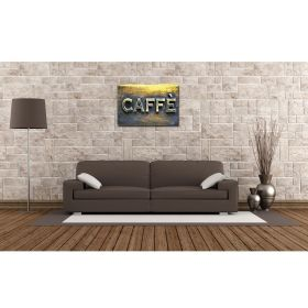 Tablou Caffe, luminos in intuneric, 60 x 90 cm