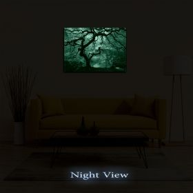 Canvas Wall Art Autumn maple, Glowing in the dark, 80 x 120 cm