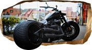 3D Mural Wall Art Harley Davidson, Glowing in the dark, 1.50 x 0.82 m