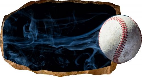 Fototapet 3D Baseball, luminos in intuneric, 1.50 x 0.82 m