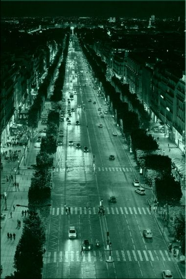 Tablou Paris - Champs Elysee, luminos in intuneric, 80 x 120 cm