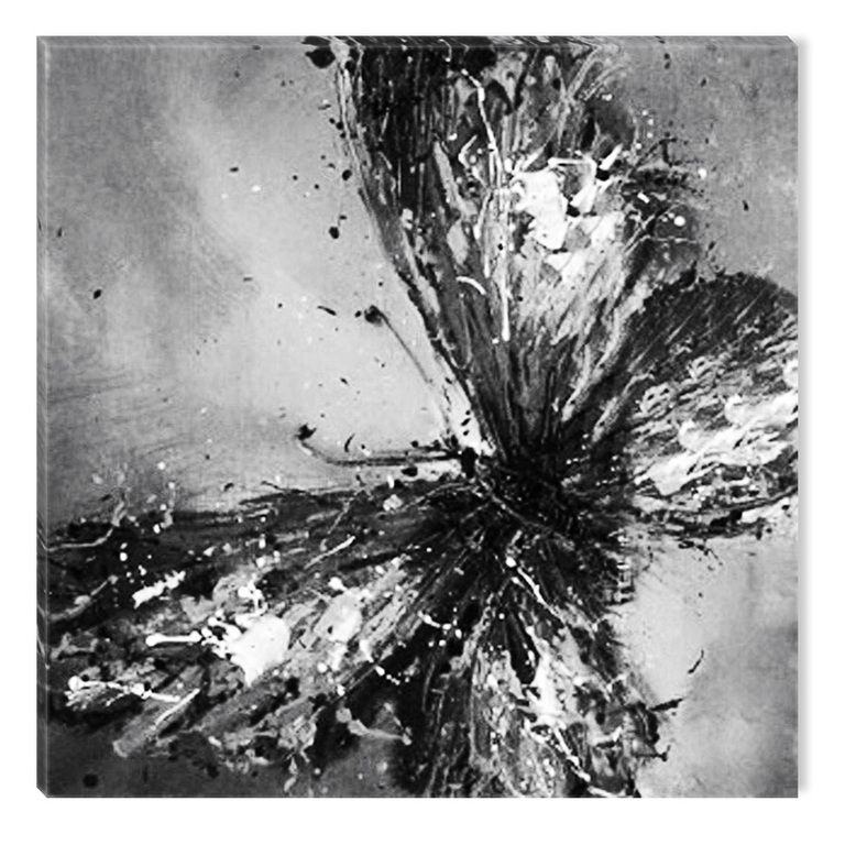 120x80cm Abstract /_ 1486 Black White Light Source Darkness Wall Picture Sinus Art