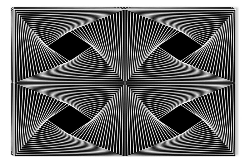 Black and White Abstract Canvas Wall Art Geometric Art ...