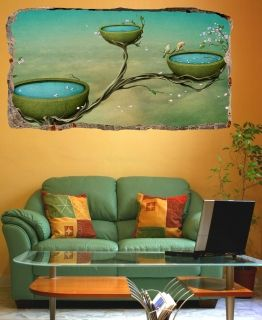 3D Mural Wall Art The magical world, Glowing in the dark, 1.50 x 0.82 m