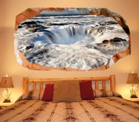 3D Mural Wall Art Whirlwind, Glowing in the dark, 1.50 x 0.82 m