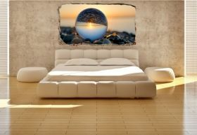3D Mural Wall Art Upside down, Glowing in the dark, 1.50 x 0.82 m
