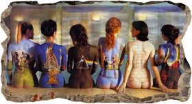 3D Mural Wall Art Girls at the pool, Glowing in the dark, 1.50 x 0.82 m