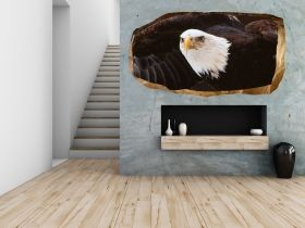 3D Mural Wall Art American eagle, Glowing in the dark, 1.50 x 0.82 m