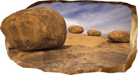 3D Mural Wall Art The gate of stones, Glowing in the dark, 1.50 x 0.82 m