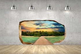 3D Mural Wall Art Gate to Paradise, Glowing in the dark, 1.50 x 0.82 m