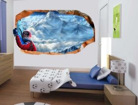3D Mural Wall Art At height, Glowing in the dark, 1.50 x 0.82 m