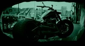 3D Mural Wall Art Harley Davidson, Glowing in the dark, 2.20 x 1.20 m