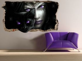3D Mural Wall Art Magic eyes, Glowing in the dark, 2.20 x 1.20 m