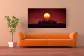 Canvas Wall Art Stonehenge, Glowing in the dark, 60 x 120 cm