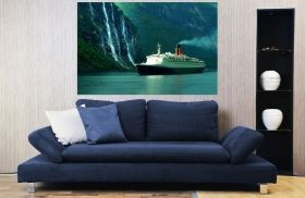 Canvas Wall Art Cruise ship, Glowing in the dark, 80 x 120 cm