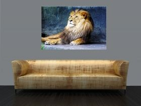 Canvas Wall Art Lion King, Glowing in the dark, 80 x 120 cm