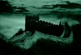 Canvas Wall Art The Great Wall, Glowing in the dark, 60 x 90 cm