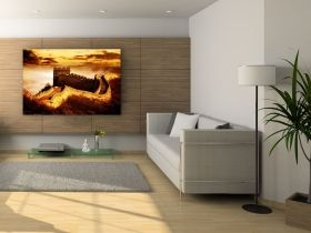 Canvas Wall Art The Great Wall, Glowing in the dark, 80 x 120 cm