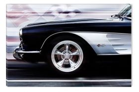 Canvas Wall Art Sports car, Glowing in the dark, 60 x 90 cm
