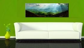Canvas Wall Art Carpathians, Glowing in the dark, 40 x 120 cm