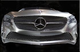 Canvas Wall Art Mercedes Benz concept car, Glowing in the dark, 60 x 90 cm