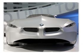 Canvas Wall Art BMW prototype car, Glowing in the dark, 60 x 90 cm