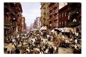 Tablou NYC Mulberry Street 1903, luminos in intuneric, 60 x 90 cm