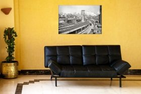 Tablou Podul Brooklyn New York, luminos in intuneric, 80 x 120 cm