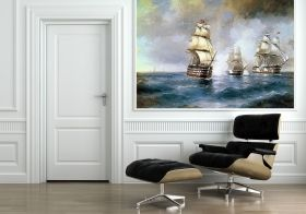 Mural Wall Art Boats, Aivazovsky, Glowing in the dark, 1.83 x 1.28 m