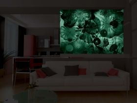 Mural Wall Art Hypnotic, Glowing in the dark, 1.83 x 1.28 m