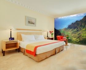 Mural Wall Art Rainbow across the mountains, Glowing in the dark, 3.66 x 2.56 m