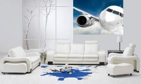 Mural Wall Art Plane, Glowing in the dark, 1.83 x 1.28 m